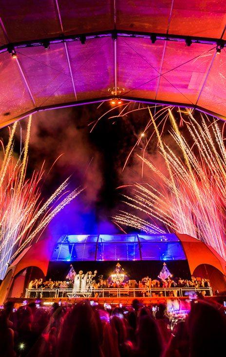 Foto palco de show